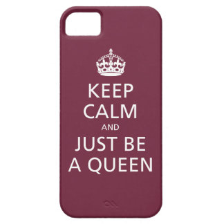 Keep Calm and Just Be A Queen (merlot) iPhone SE/5/5s Case