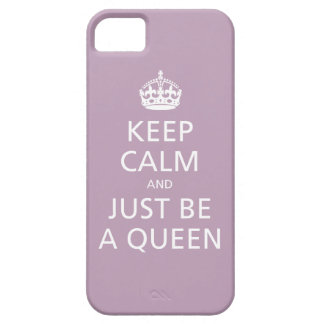Keep Calm and Just Be A Queen (pale violet) iPhone SE/5/5s Case