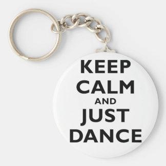 Keep Calm and Just Dance Keychain