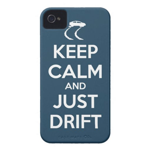keep calm and just drift iPhone 4 cover