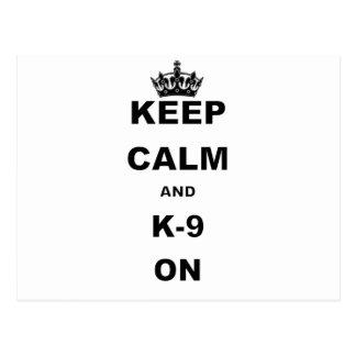 KEEP CALM AND K9 ON.png Postcard