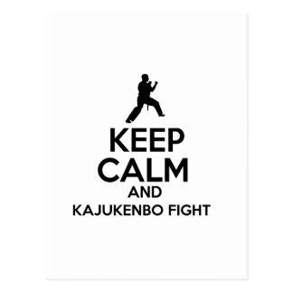 Keep Calm And Kajukenbo Fight Postcard