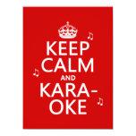Keep Calm and Karaoke (customize color) Custom Announcement