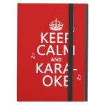 Keep Calm and Karaoke (customize color) iPad Folio Cases