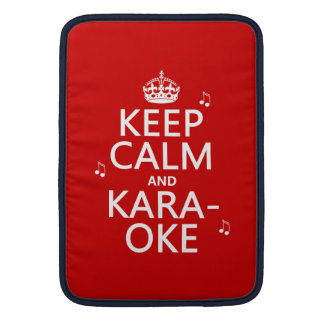 Keep Calm and Karaoke (customize color) MacBook Air Sleeve