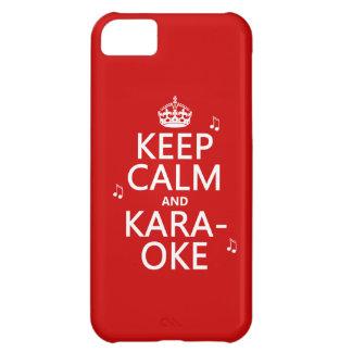 Keep Calm and Karaoke (customize color) iPhone 5C Case