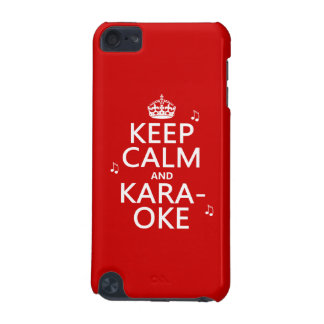 Keep Calm and Karaoke (customize color) iPod Touch (5th Generation) Cover