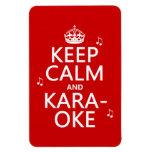 Keep Calm and Karaoke (customize color) Rectangle Magnet