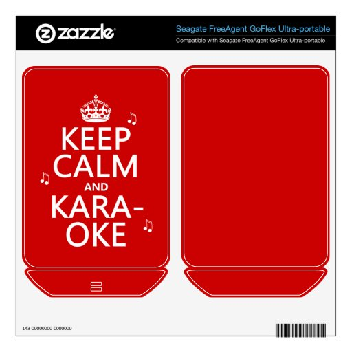 Keep Calm and Karaoke (customize color) FreeAgent GoFlex Decal