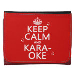Keep Calm and Karaoke (customize color) Wallets