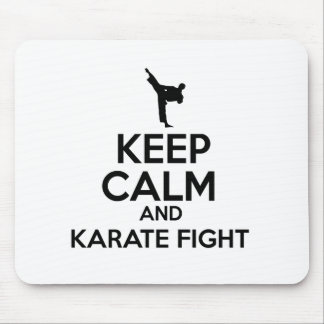 Keep Calm And Karate Fight Mouse Pad