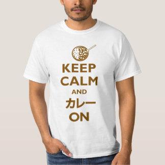 Keep Calm and Kare (カレー) On (Light) T-Shirt
