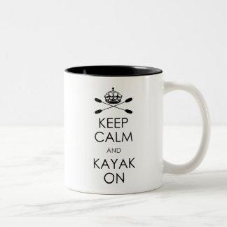 Keep Calm and Kayak On Coffee Mugs