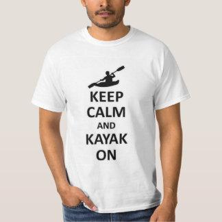 Keep calm and kayak on T-Shirt