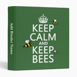 Avery Signature 1' Binder with Keep Calm and Keep Bees design