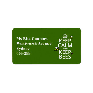 Keep Calm and Keep Bees - all colours Address Label
