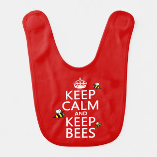 Keep Calm and Keep Bees - all colours Baby Bib