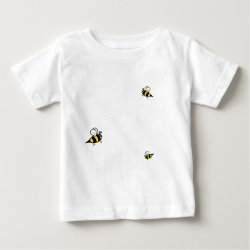 Baby Fine Jersey T-Shirt with Keep Calm and Keep Bees design