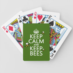 Playing Cards with Keep Calm and Keep Bees design