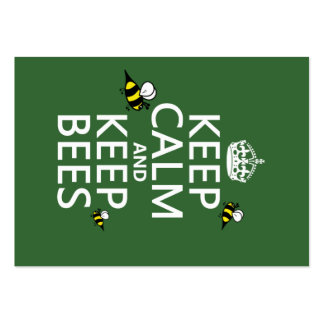 Keep Calm and Keep Bees - all colours Business Card Templates