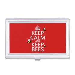Business Card Holder with Keep Calm and Keep Bees design