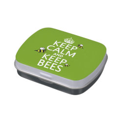 Rectangle Jelly Belly™ Candy Tin with Keep Calm and Keep Bees design
