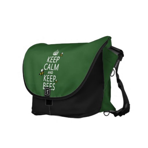 Keep Calm and Keep Bees - all colours Courier Bag