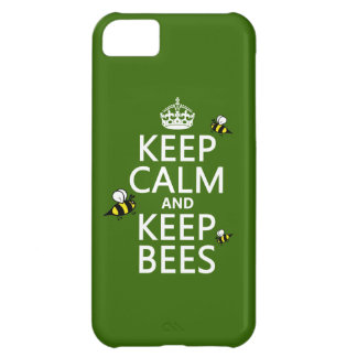 Keep Calm and Keep Bees - all colours Cover For iPhone 5C