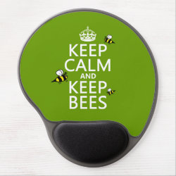 Gel Mousepad with Keep Calm and Keep Bees design