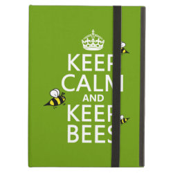 iPad Air Powis Case with Keep Calm and Keep Bees design