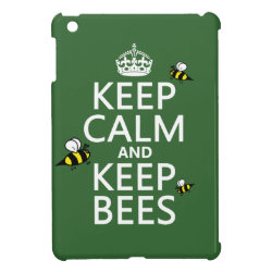Case Savvy iPad Mini Glossy Finish Case with Keep Calm and Keep Bees design