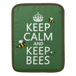 iPad Sleeve with Keep Calm and Keep Bees design
