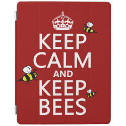 iPad 2/3/4 Cover with Keep Calm and Keep Bees design