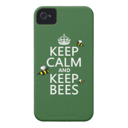 Case-Mate iPhone 4 Barely There Universal Case with Keep Calm and Keep Bees design