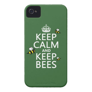 Keep Calm and Keep Bees - all colours iPhone 4 Cover
