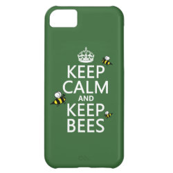 Case-Mate Barely There iPhone 5C Case with Keep Calm and Keep Bees design