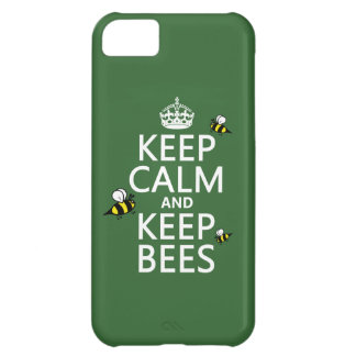 Keep Calm and Keep Bees - all colours iPhone 5C Cover