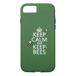 Keep Calm and Keep Bees - all colours iPhone 7 Case