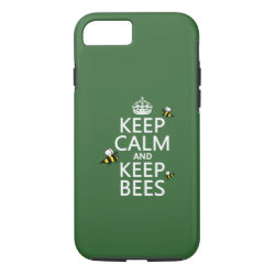 Case-Mate Barely There iPhone 7 Case with Keep Calm and Keep Bees design