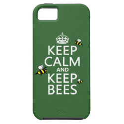 Case-Mate Vibe iPhone 5 Case with Keep Calm and Keep Bees design