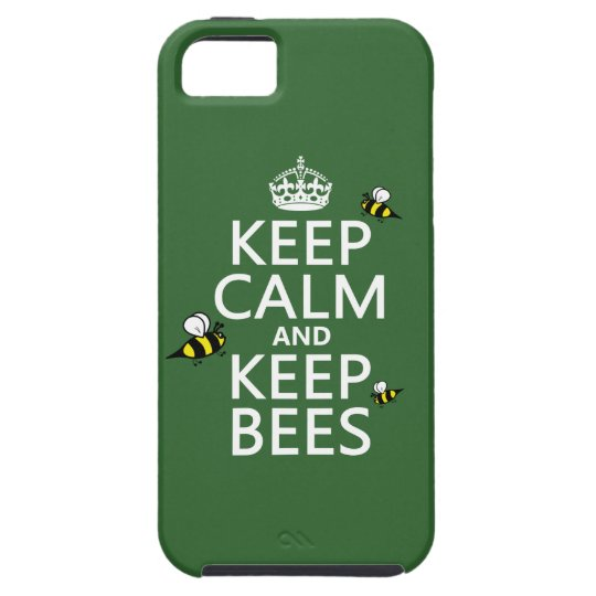 Keep Calm and Keep Bees - all colours iPhone SE/5/5s Case