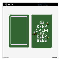 Amazon Kindle DX Skin with Keep Calm and Keep Bees design