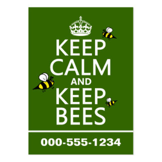 Keep Calm and Keep Bees - all colours Large Business Card