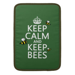 Macbook Air Sleeve with Keep Calm and Keep Bees design