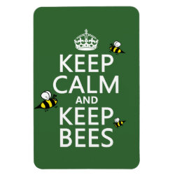 4'x6' Photo Magnet with Keep Calm and Keep Bees design