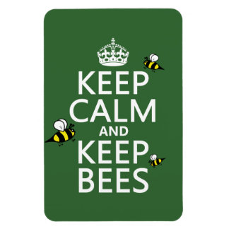 Keep Calm and Keep Bees - all colours Magnet