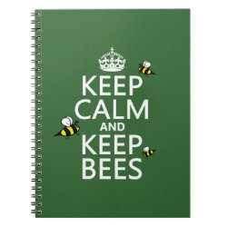 Photo Notebook (6.5' x 8.75', 80 Pages B&W) with Keep Calm and Keep Bees design