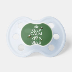BooginHead® Custom Pacifier (6+ Months) with Keep Calm and Keep Bees design