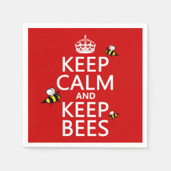 Paper Napkins with Keep Calm and Keep Bees design