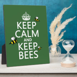 Photo Plaque 8' x 10' with Easel with Keep Calm and Keep Bees design
